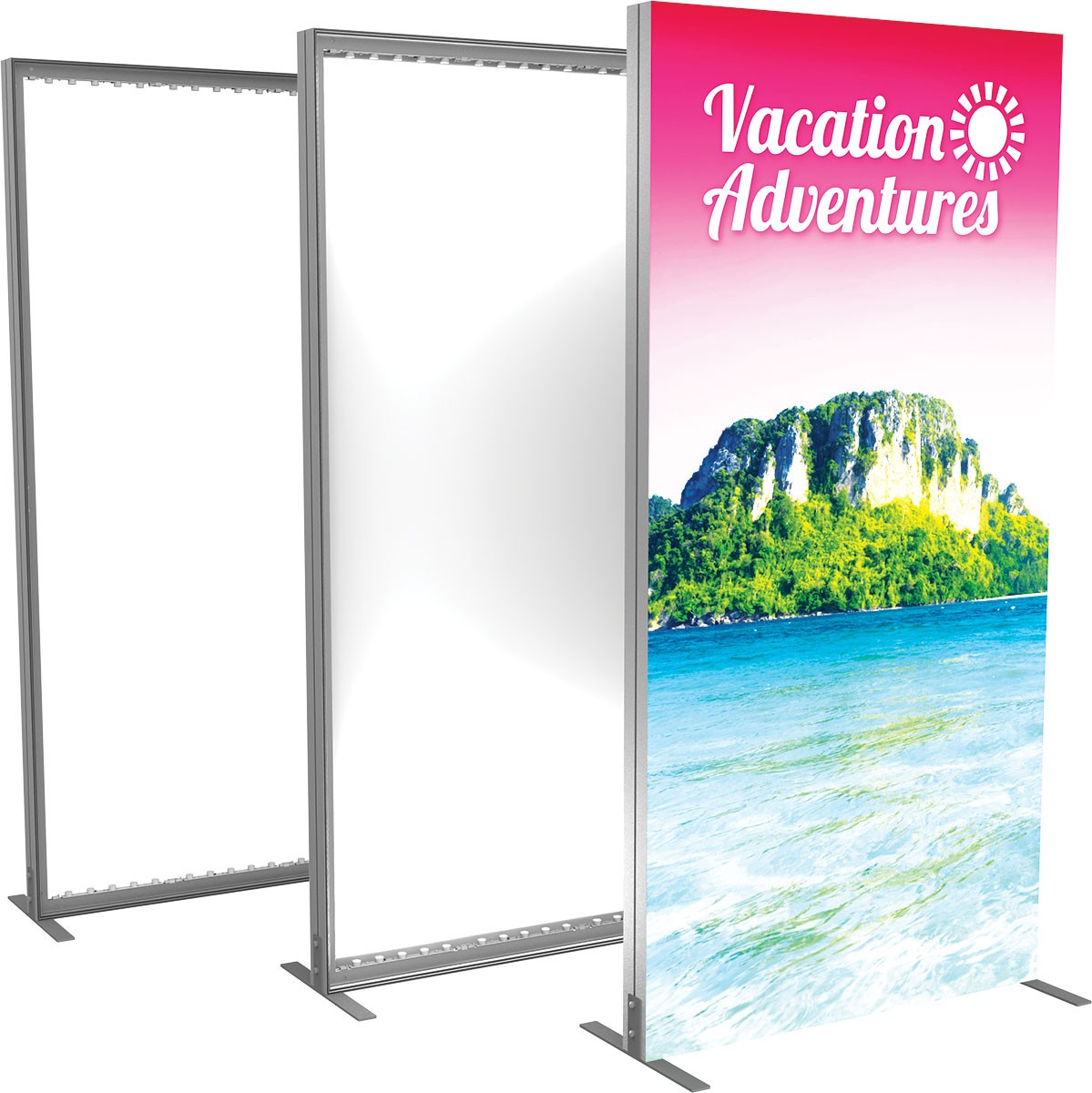 Vector Frame Backlit Display 4x8 | Power-Graphics.com