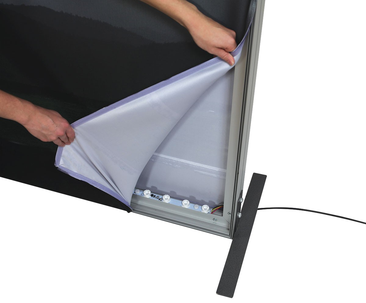Vector Frame Backlit Display 3x8 Illuminated Tension Fabric Display