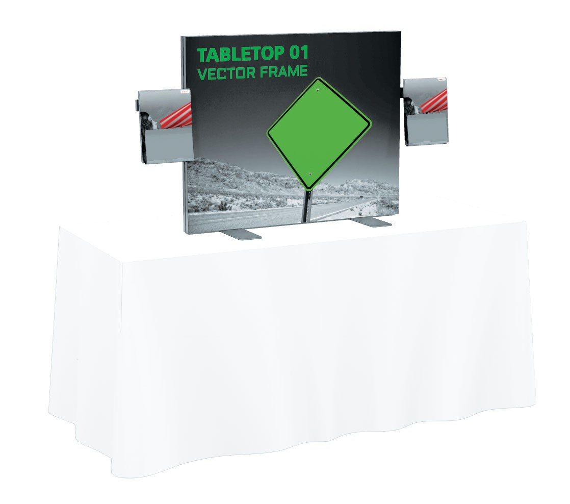 Vector Frame Tension Fabric Table Top Display Kit 1