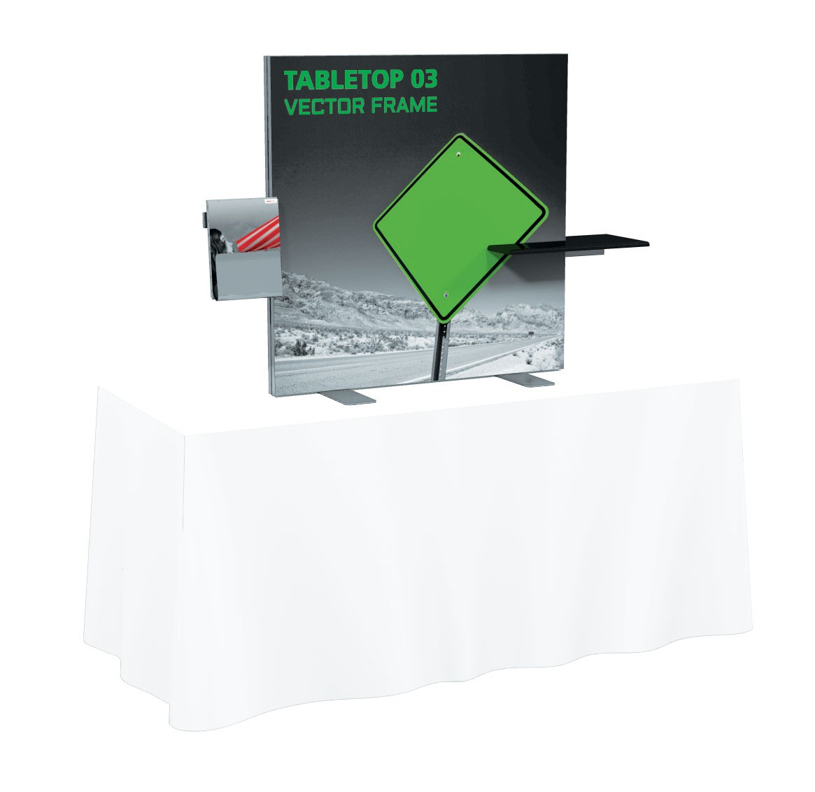 Vector Frame Tension Fabric Table Top Display Kit 3