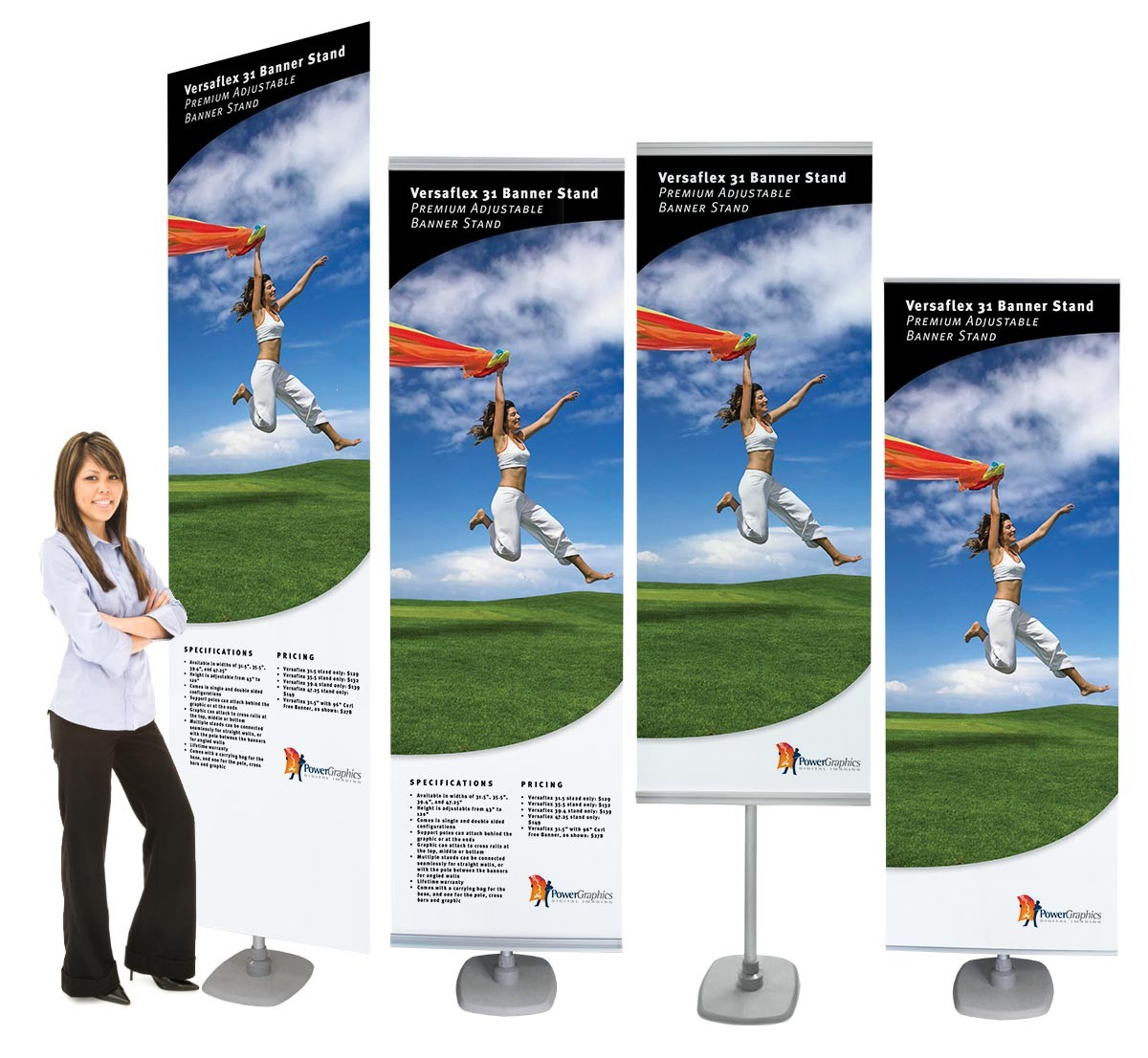 Versaflex 31 Double Portable Banner Stand