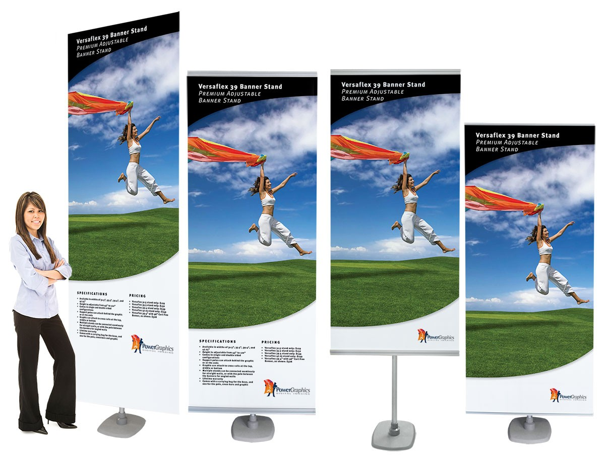 Versaflex 39 Double Two Sided Portable Banner Stand