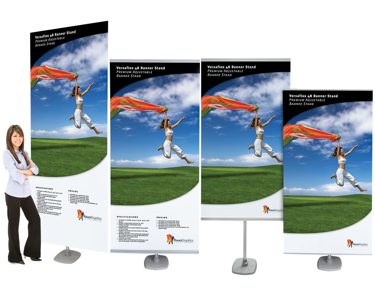 Versaflex 48 Double Two Sided Portable Banner Stand