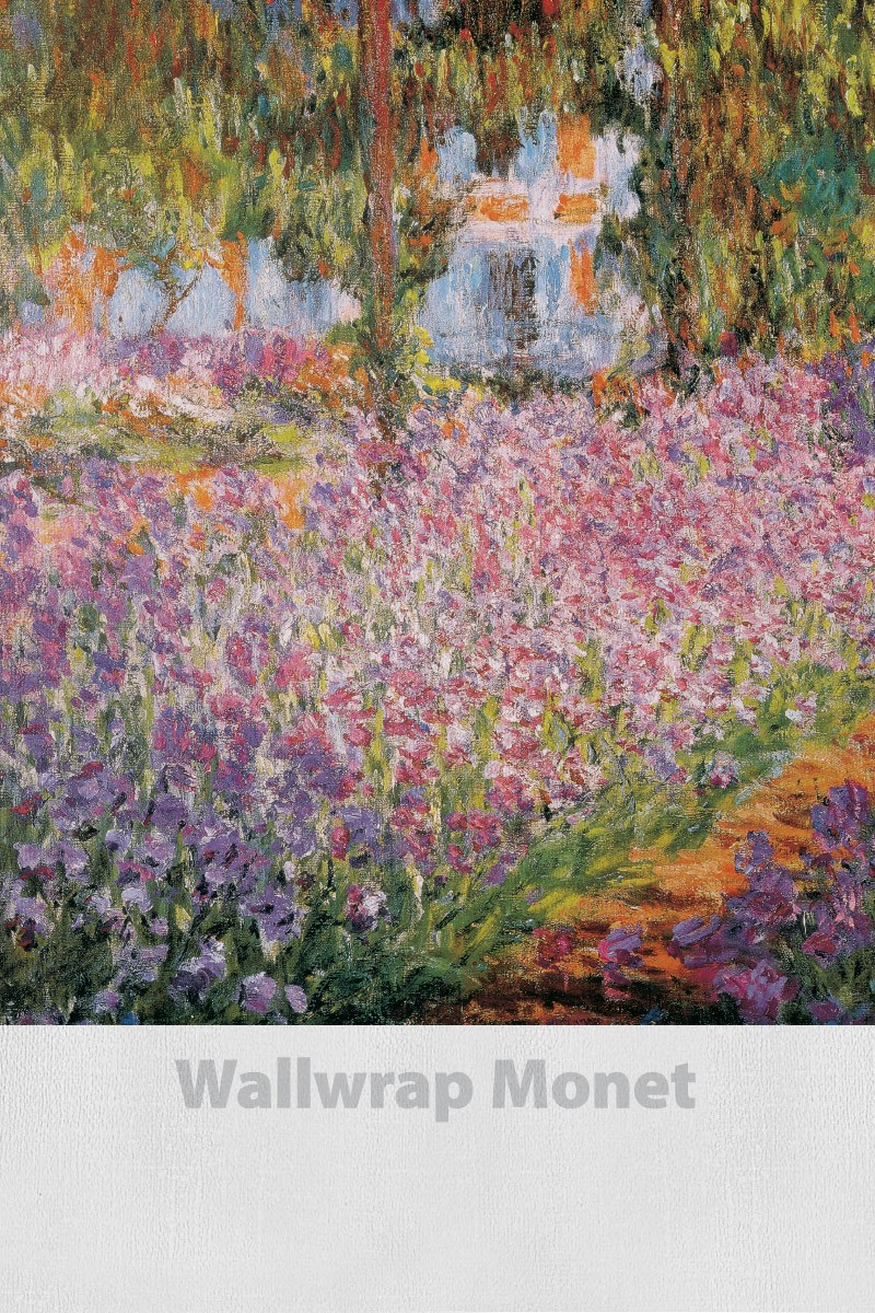 WallWrap Monet canvas textured self adhesive wall graphics