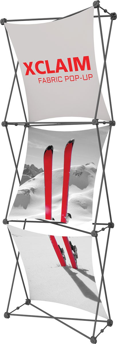 XClaim 2.5' Fabric Pop Up Display Kit 1