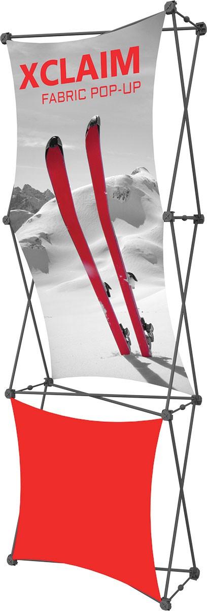 XClaim 2.5' Fabric Pop Up Display Kit 2