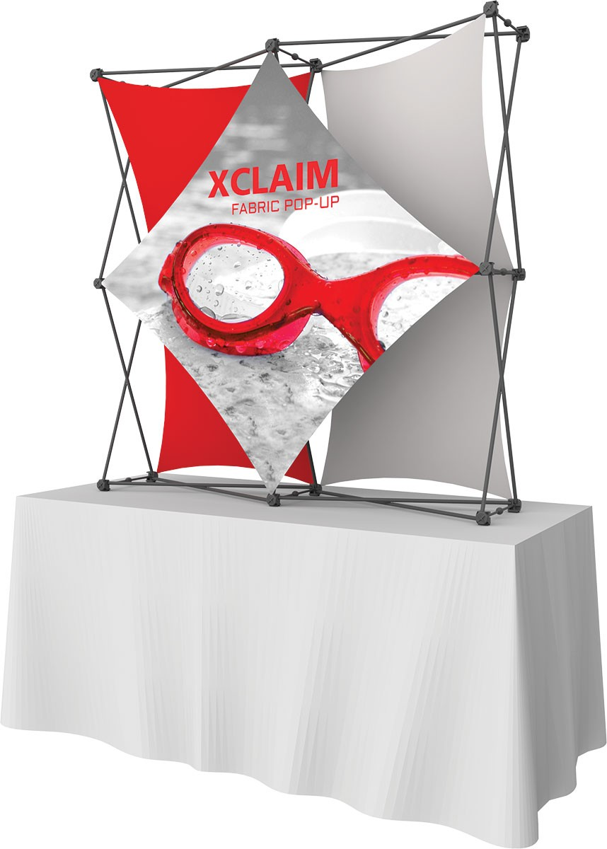 Xclaim 5' Kit 2 collage tension fabric table top display