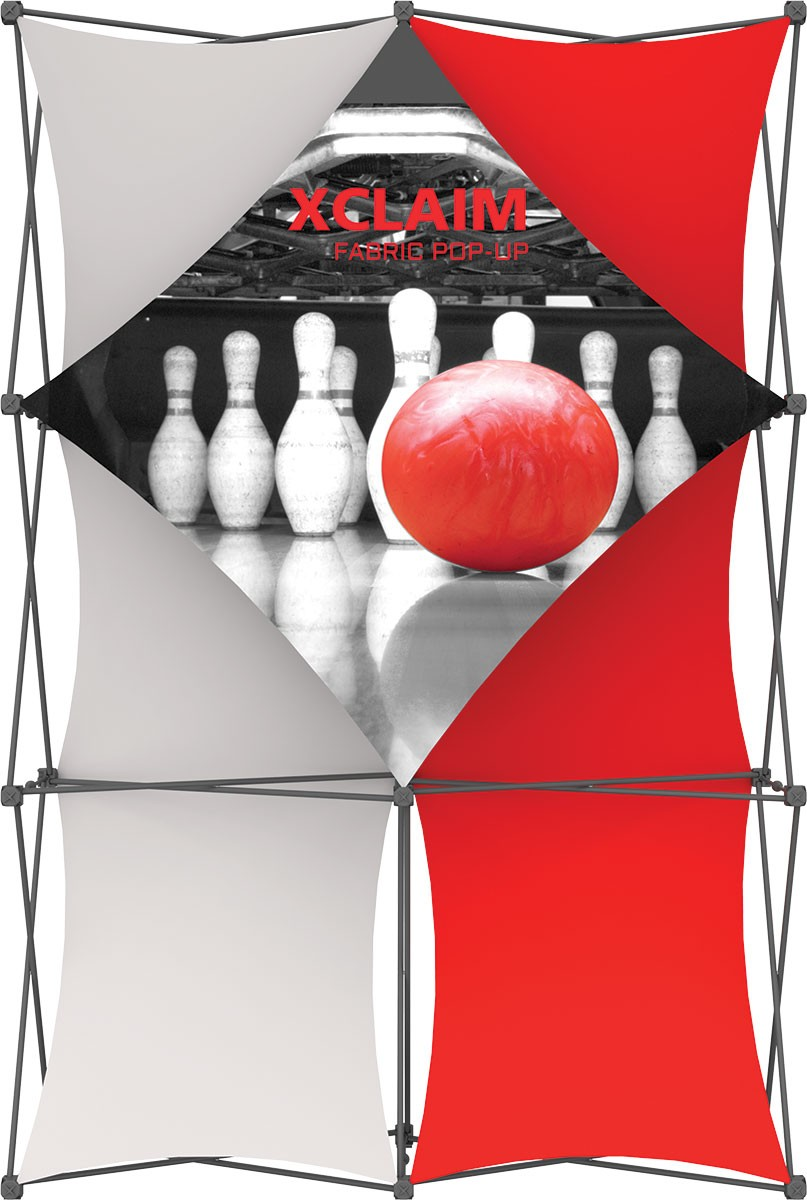 XClaim 5' Fabric Pop Up Display Kit 1