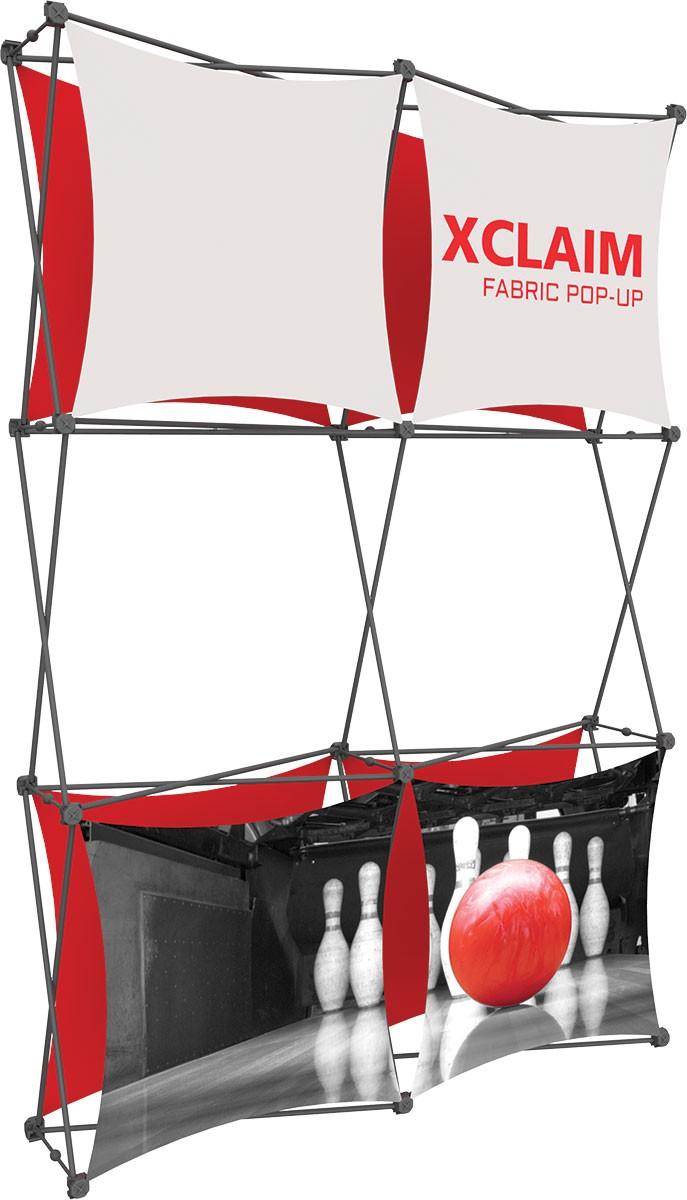 XClaim 5' Fabric Pop Up Display Kit 2