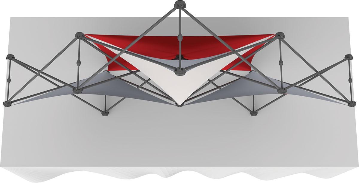 XClaim 3 Quad Pyramid Fabric Table Top Display Kit 2