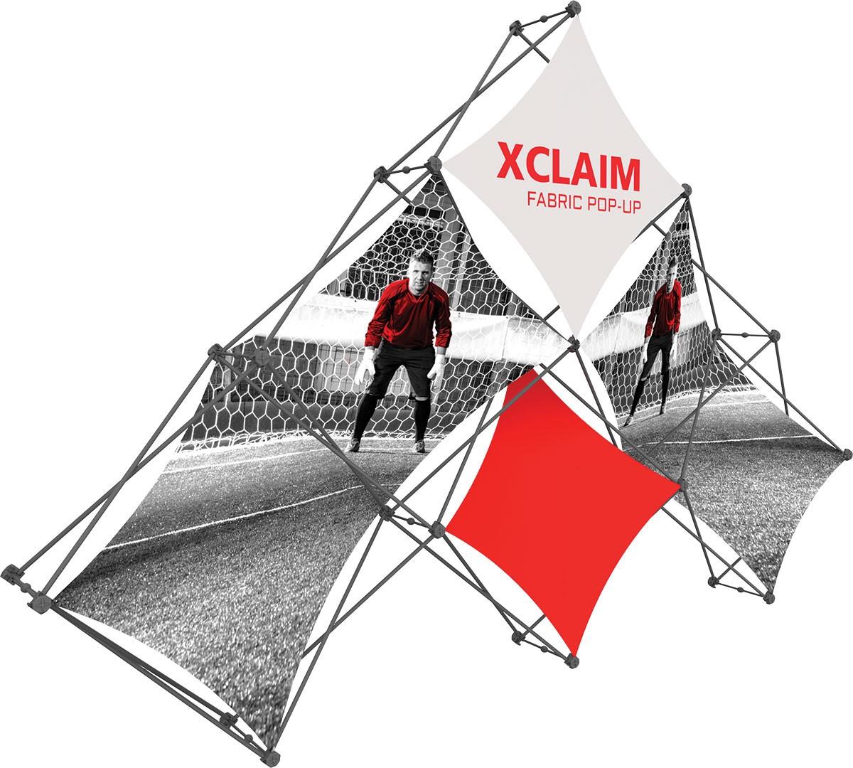 XClaim 6 Quad Pyramid Fabric Pop Up Display Kit 1