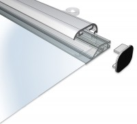 Aluminum SnapGraphics poster and banner hangers