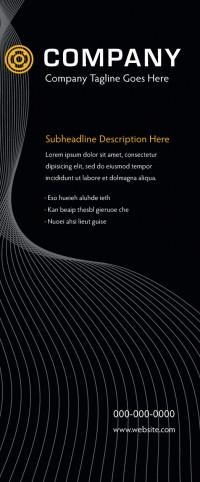 Banner Design - Black Lines
