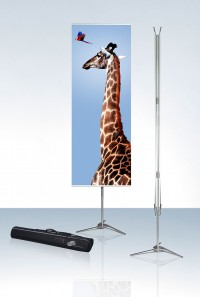 Expolinc Pole System 27 Double Two Sided Portable Banner Stand
