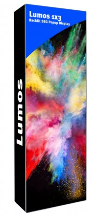 Lumos 2.5' Backlit SEG Popup Display