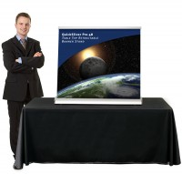 QuickSilver Pro 48 Table Top retractable banner stand