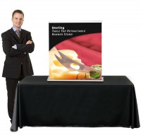 Sterling Table Top Retractable Banner Stand