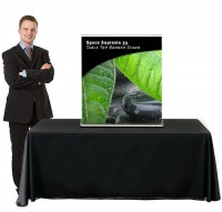 Space Supreme 33 Table Top Retractable Banner Stand