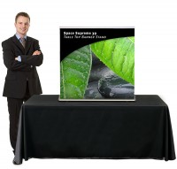 Space Supreme 39 Table Top Retractable Banner Stand