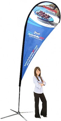 Teardrop Banner Medium Outdoor Banner Stand