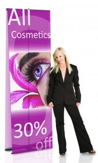 Ultra Banner Stand Double 36 Two Sided Portable Banner Stand