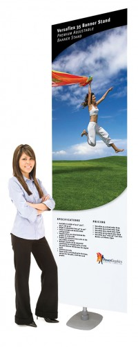 Versaflex 36 Double Two Sided Portable Banner Stand