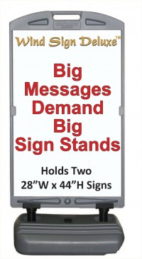 Wind Sign Deluxe Portable Outdoor Sign Holder