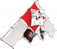 XClaim 10 Quad Pyramid Fabric Pop Up Display Kit 1