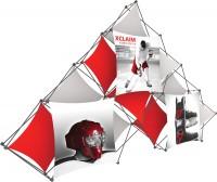 XClaim 10 Quad Pyramid Fabric Pop Up Display Kit 2