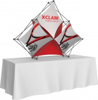 XClaim 3 Quad Pyramid Fabric Table Top Display Kit 2