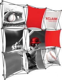 XClaim 8' Fabric Pop Up Display Kit 1