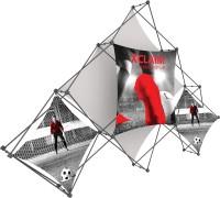 XClaim 6 Quad Pyramid Fabric Pop Up Display Kit 2