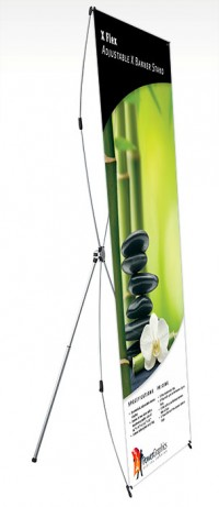 X Flex Large Adjustable X Banner Stand