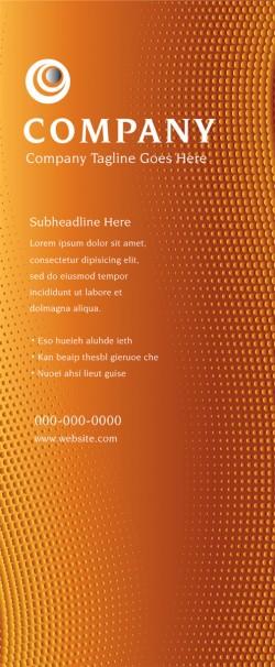 Banner Design - Orange Dots