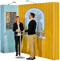 Expolinc Magnetic Pop Up Straight Graphic Panel