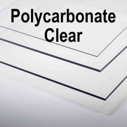 Unprinted Clear Polycarbonate
