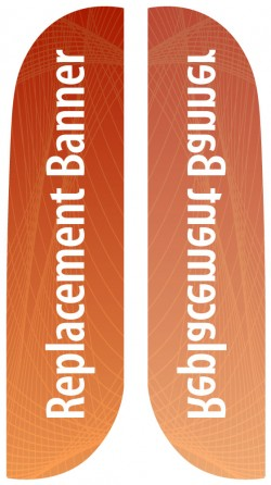 Small Single Sided Replacement Feather Banner