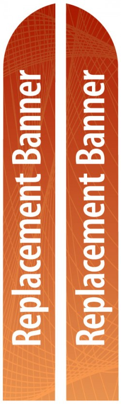 XL Double Sided Replacement Feather Banner