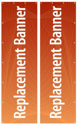 31.5 x 106.5 Banner for Outdoor Banner Stands