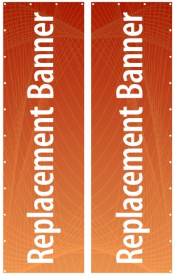 43 x 144 Banner for Outdoor Banner Stands