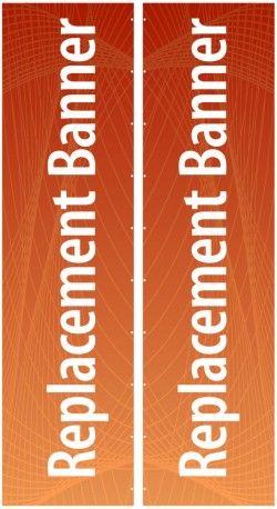 """Expand Flagstand XL 180"""" Double Sided Replacement Banner"""