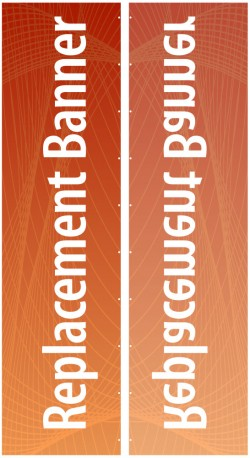 """Expand Flagstand XL 180"""" Single Sided Replacement Banner"""
