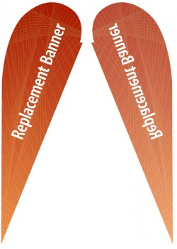Large Single Sided Replacement Teardrop Banner