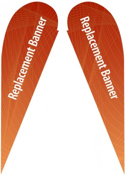 Large Double Sided Replacement Teardrop Banner
