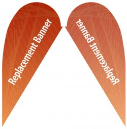 Small Single Sided Replacement Teardrop Banner