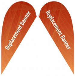 Small Double Sided Replacement Teardrop Banner