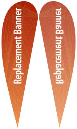 XL Single Sided Replacement Teardrop Banner
