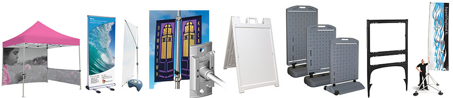 outdoor displays and sign holders