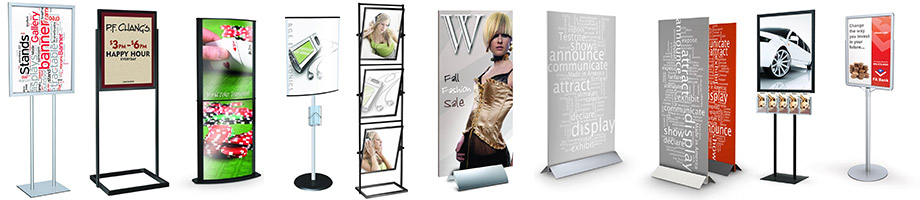 floor standing sign holders