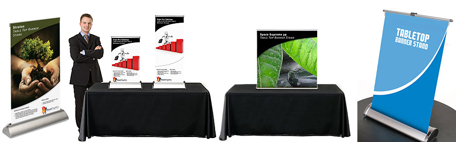 Table Top Banner Stands Power Graphics Power Graphicscom